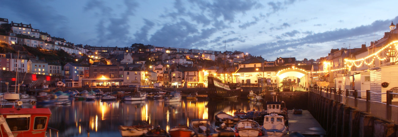 Brixham Harbour at Night